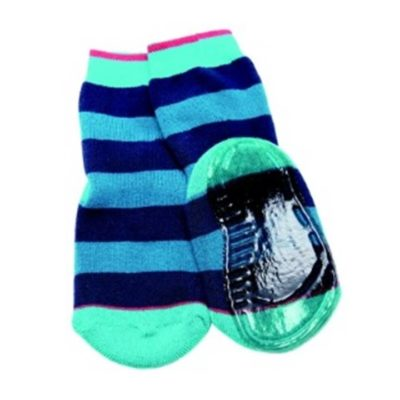 Ewers antislip sokcs blue green stripes