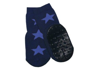 Ewers antislip socks dark blue light blue stars