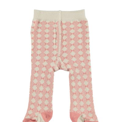 Organic winter tights pink