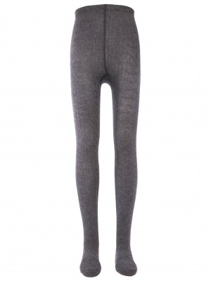 Tights Grey Ribbed Ewers