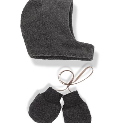 Linus bonnet and mittens anthracite