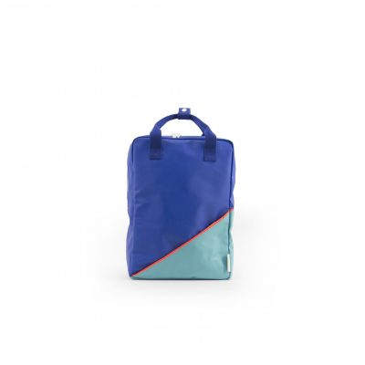 Sticky Lemon Backpack Diagonal large blue retro mint 27 x 38 cm You can find more colors at our store in Rotterdam or in the webshop See for more info //www.stickylemon.nl