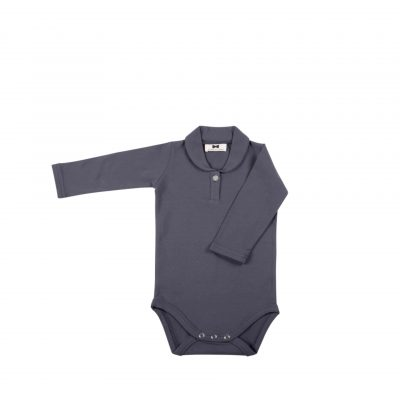 Boys Collar Bodysuit Vintage Grey