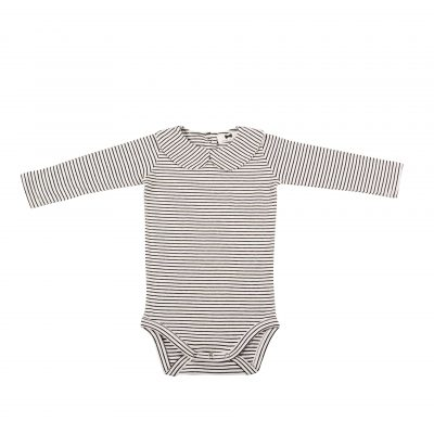 Girls Collar Bodysuit Little Stripes
