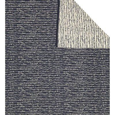 Block blanket dark blue