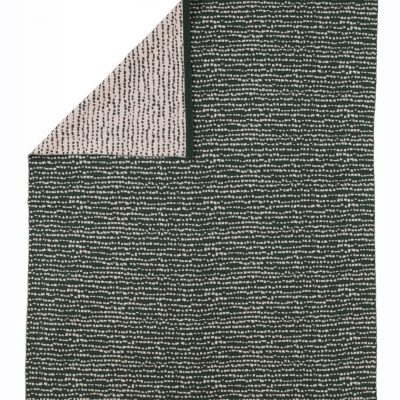 Block blanket dark green