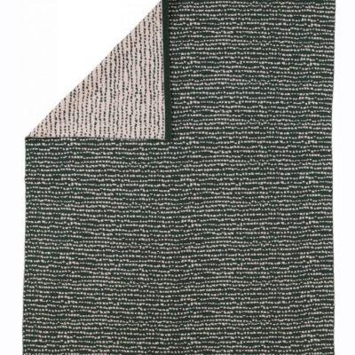 Block blanket dark green