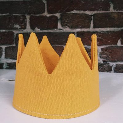 Gold yellow Canvas Crown