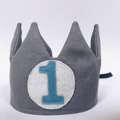 Grey Linen Crown