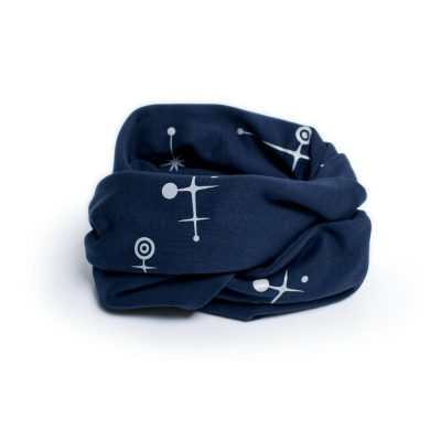SPACE Navy Organic Infinity Scarf