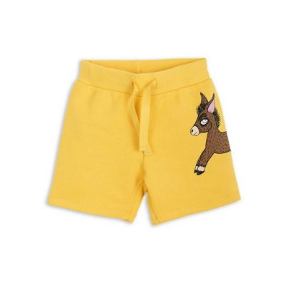 Mini Rodini Donkey Sweatshorts Yellow