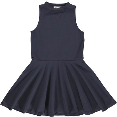 Full Skirt Dress Dark Washed Gro