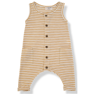 Mondrian jumpsuit mustard - 1+ in the family