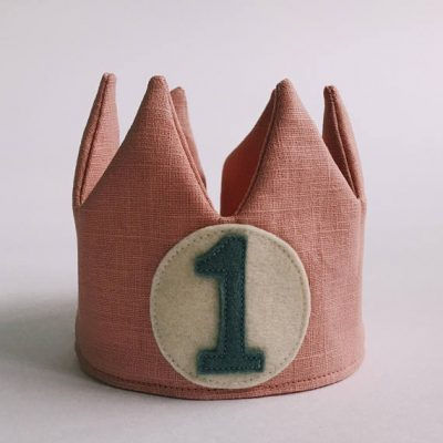 Old Rose Linen Crown