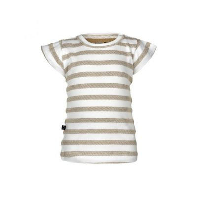 nOeser Ted t-shirt frill stripe sand