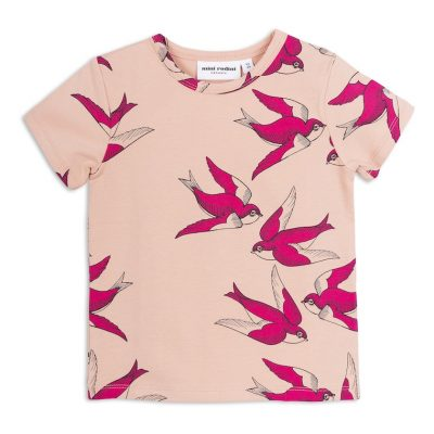 Mini Rodini - Swallows T-shirt Pink