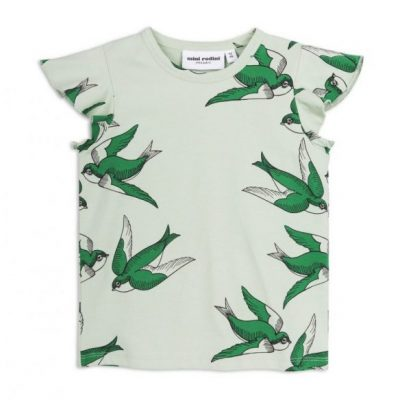 Mini Rodini - Swallows wing tee green