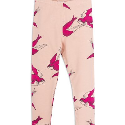 Mini Rodini - Swallows leggings Pink