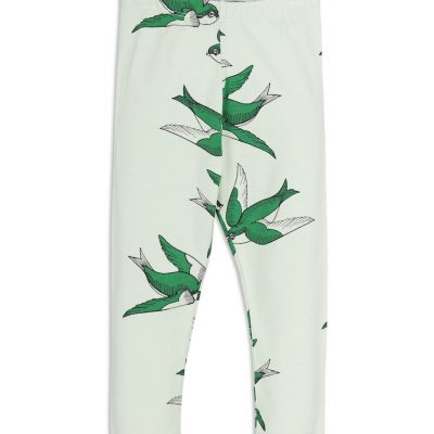 Mini Rodini - Swallows leggings Green