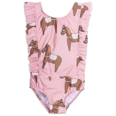 Mini Rodini - Horse ruffled swimsuit
