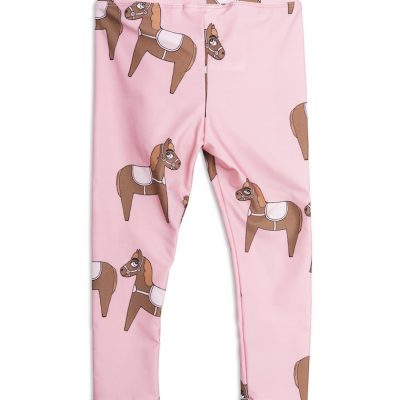 Mini Rodini - Horse fancy leggings pink