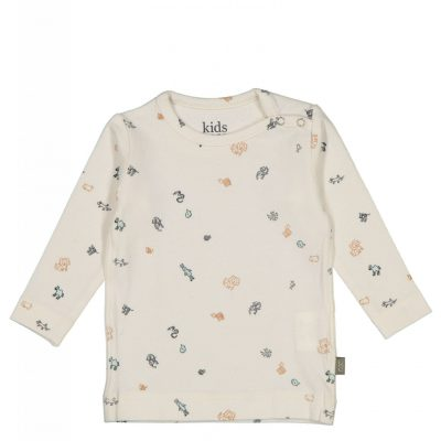 Kidscase Cherry organic NB t-shirt off-white