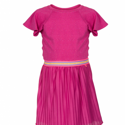 Le Big Jalou Dress Raspberry Pin
