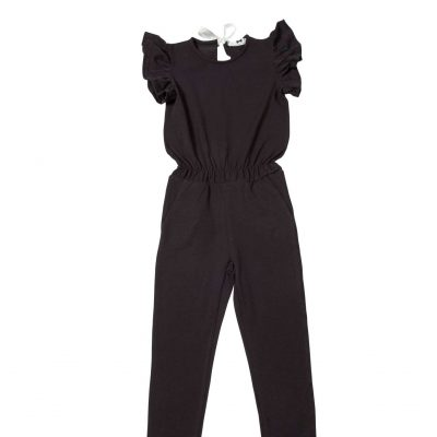 House of Jamie Ruffled Jumpsuit Black