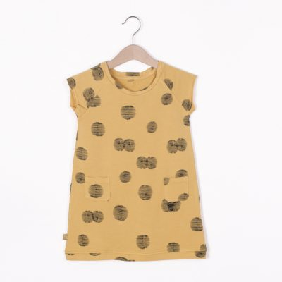 Lotiekids Dress raglan sleeve Sunset Light Ochre
