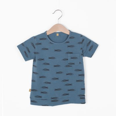 Lotiekids T-shirt Fish Lake Blue