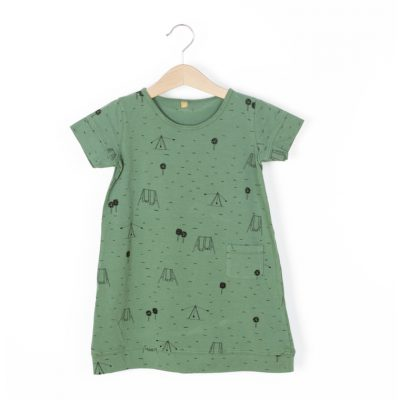 Lotiekids Dress short sleeve Swings Park Pine Green