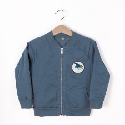 Lotiekids Twill Bomber jacket Solid Lake Blue