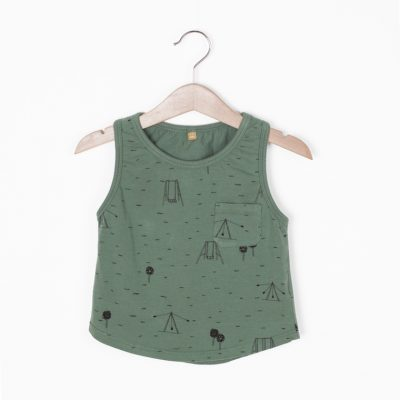 Lotiekids Tanktop Swings Park Pine Green