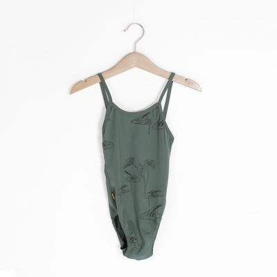 Lotiekids Swimsuit Frogs Pine Green