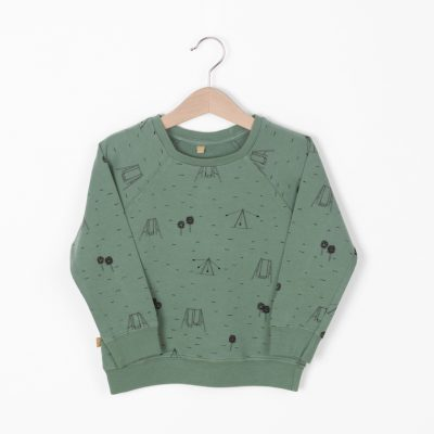 Lotiekids Sweatshirt Swings Park Pine Green