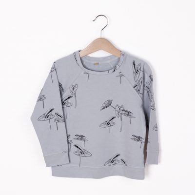 Lotiekids Sweatshirt Frogs Light Grey