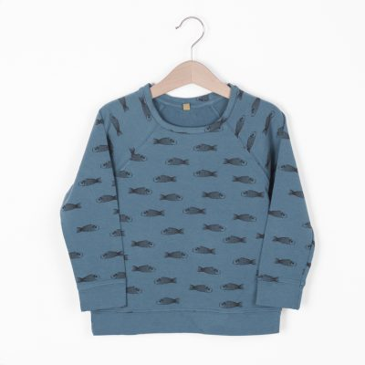 Lotiekids Sweatshirt Fish Lake Blue