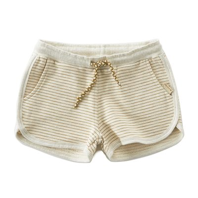Little Label - sweat shorts stripes brown sugar