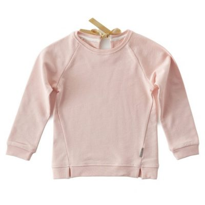 Little Label Sweater bow cotton candy pink