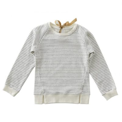 Little Label - sweater with bow stripes almost black