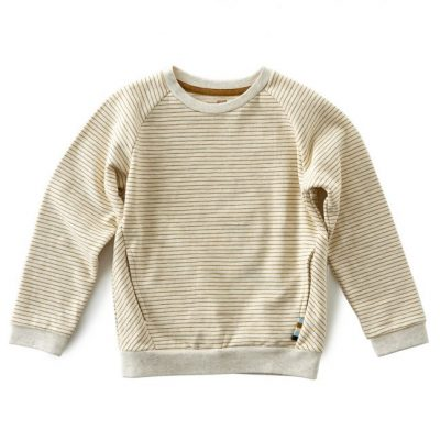 Little Label - sweater stripes brown sugar