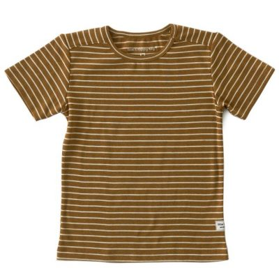 Little Label - t- shirt big brown stripes