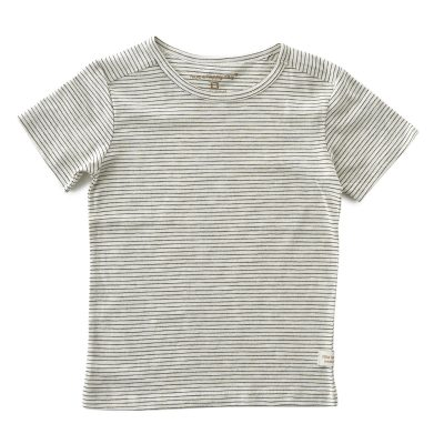 Little Label - shirt round neck small black stripes