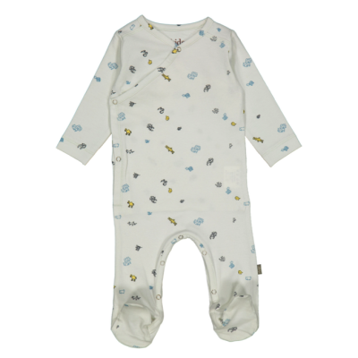 Kidscase Cherry organic NB suit light blue
