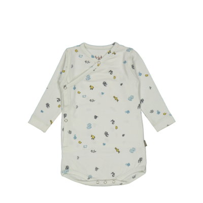 Kidscase Cherry organic NB body light blue