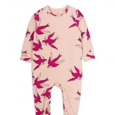 Mini Rodini - Swallows jumpsuit Pink