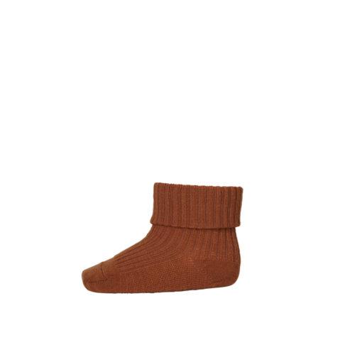 mp Denmark baby sokjes wol roestbruin