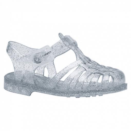 Meduse waterschoenen zilver glitter