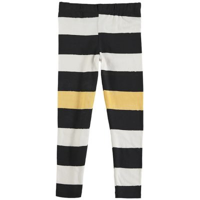 Nadadelazos Leggings Black Stripes