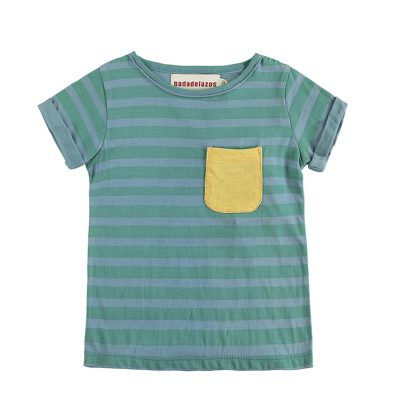 Nadadelazos T-shirt Blue Green Stripes